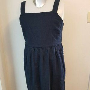 LOFT Outlet Sleeveless Sundress Belted Zipper Sz 8